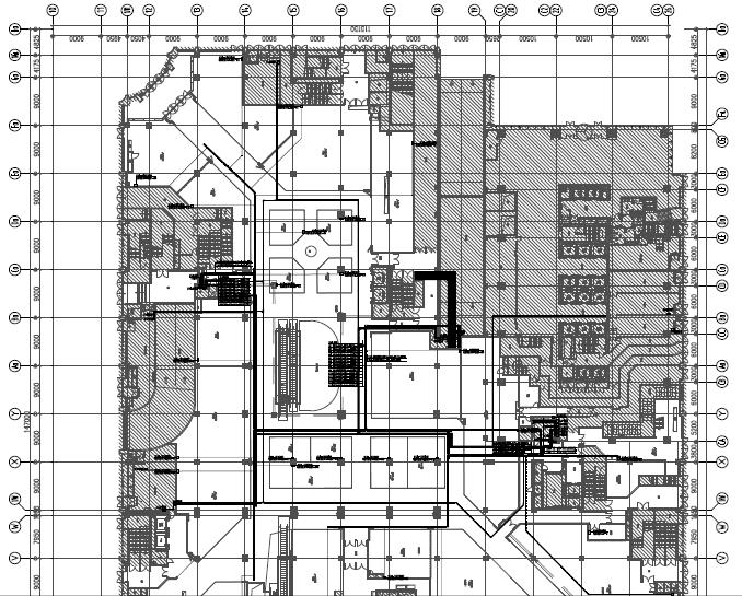 浙江宁波大型办公及配套商业电气二次精装施工图