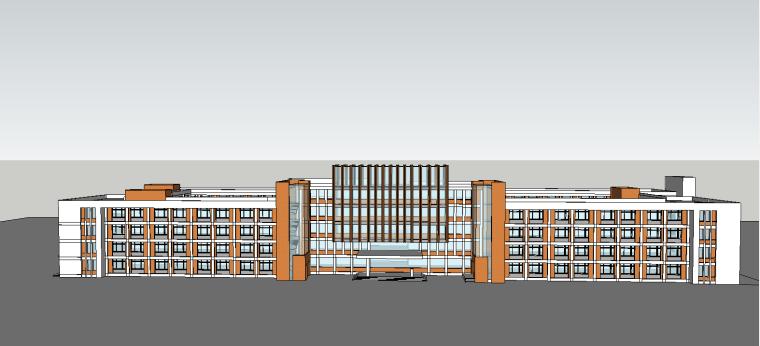 某学校主教学楼SU建筑模型