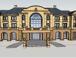 法式风格会所建筑模型设计