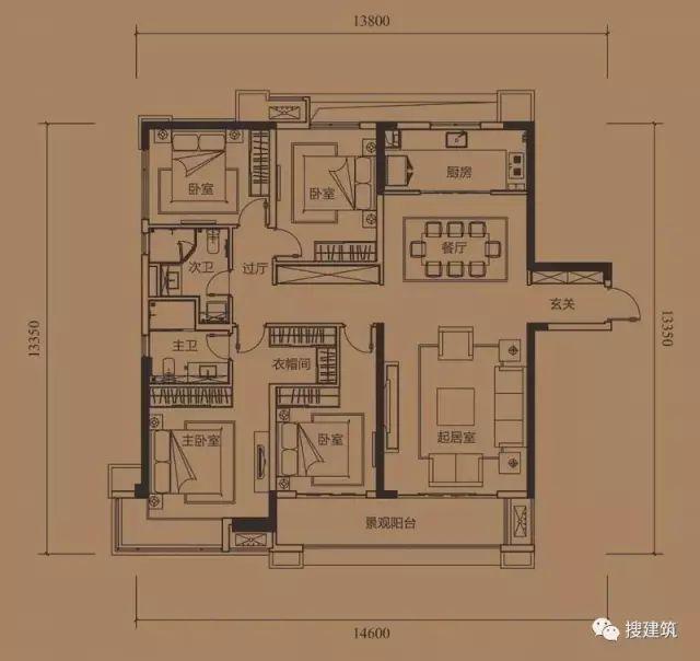 万科罕见的270㎡5房6卫双拼户型,庭院高达228㎡_41