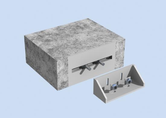 单元式幕墙工程施工组织设计-单元式挂座效果图