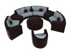 环形组合沙发3D模型下载