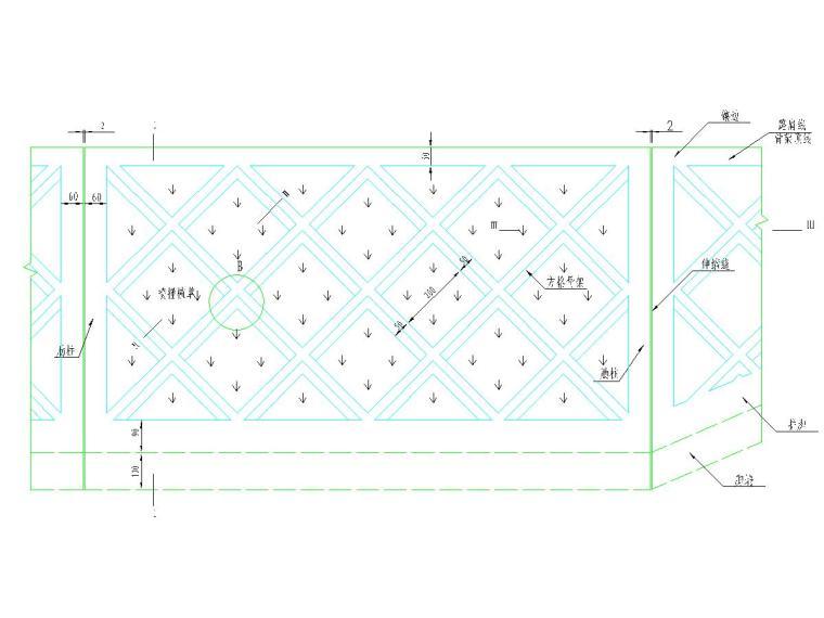 浆砌片石菱形骨架护坡设计图