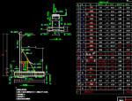 高6m、7m、8m、9m扶壁式挡墙设计图5张CAD(C30混凝土浇筑)