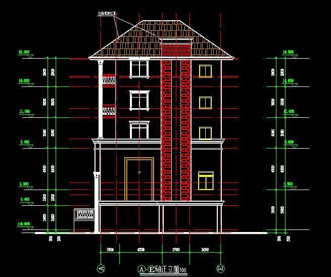 错层别墅建筑结构施工图