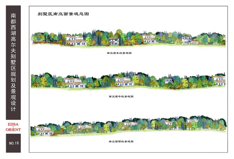 16别墅区南立面景观总图