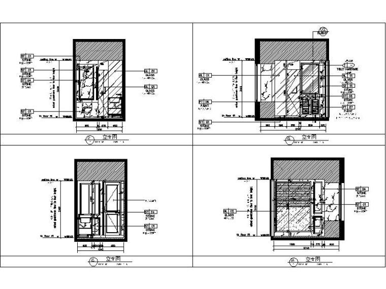 [杭州]欧式两居样板间室内设计施工图(含效果图+实景图)_5