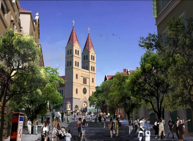 [山东]青岛中山路商贸旅游区改造城市设计方案文本(历史,旅游)