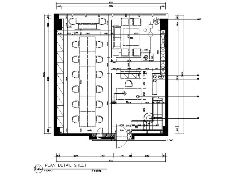 [新疆]现代风格办公室设计cad施工图(含效果图)图片