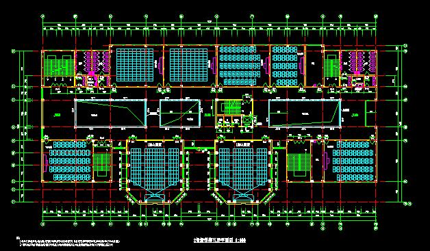 中学1#、2#、3#楼教学楼建施平面(多栋楼建筑)