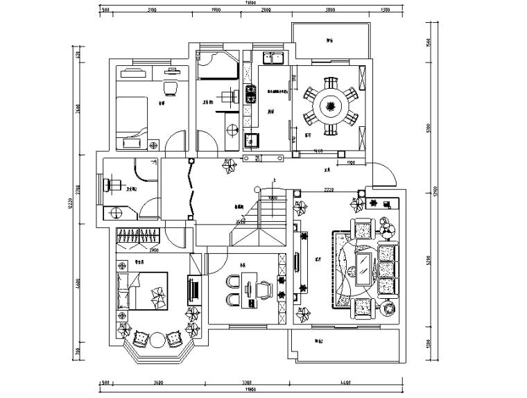 [嘉兴]欧式两层小别墅室内设计装修施工图