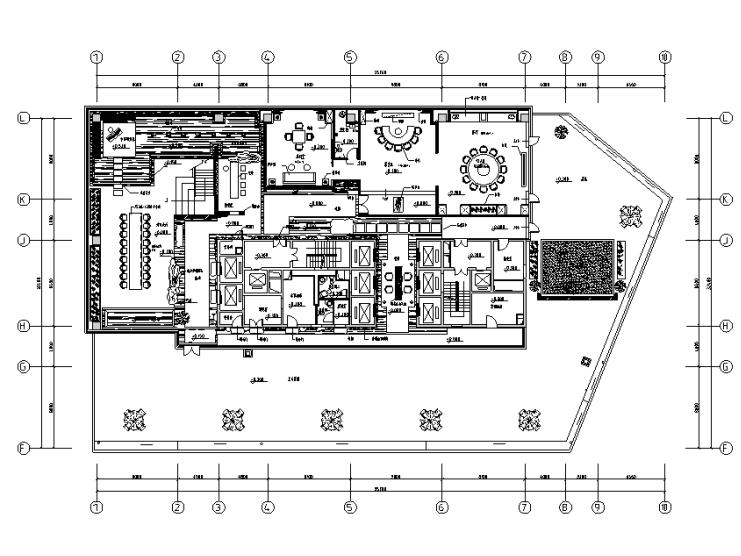 [内蒙古]金融广场K座茶楼概念方案设计施工图