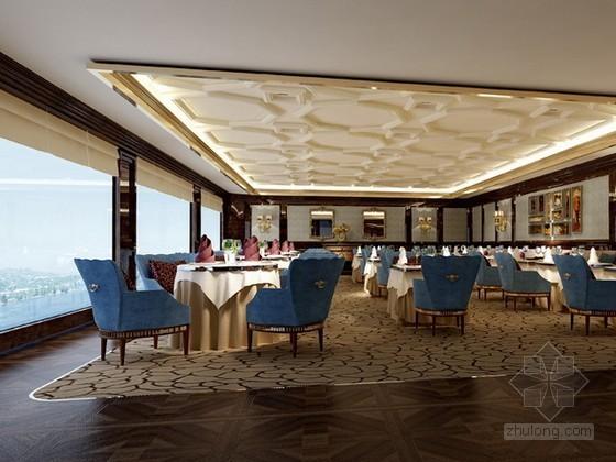 酒店VIP餐厅3d模型下载
