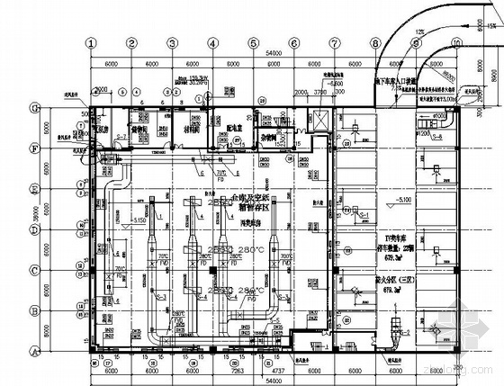 武威市某公司配送中心厂房采暖通风图