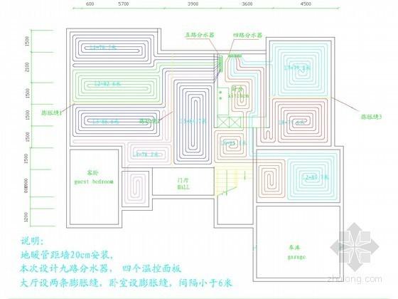 采暖管网施工图资料下载-小型别墅采暖系统设计施工图