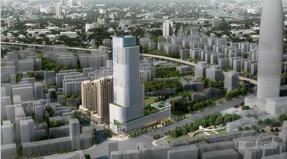 [济南]超高层现代风格石材幕墙城市综合体建筑设计方案文本(含两套方案)