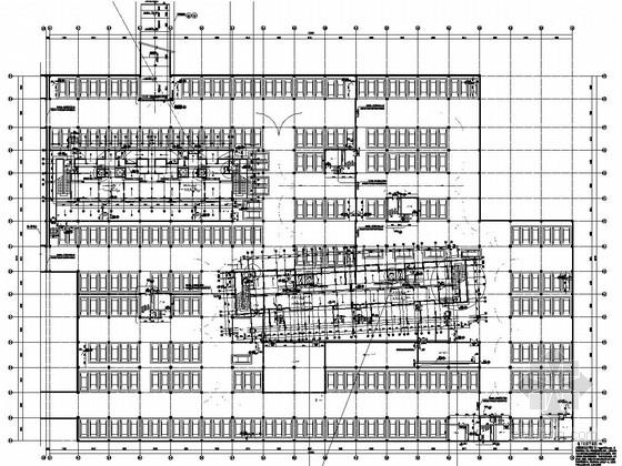 240个停车位框架结构地下车库结构施工图(非人防 含建筑图)