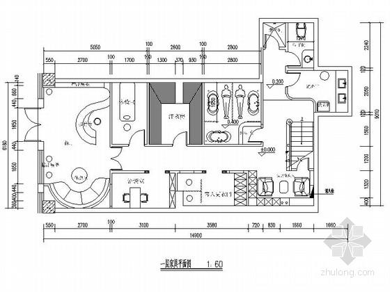 [吉林]美容养生现代风格SPA会所室内装修施工图(含实景)