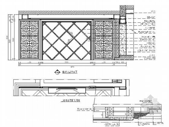 [沈阳]度假生活区古典简欧五居室装修图(含效果)客厅立面图