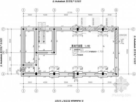 [内蒙]单层换热站砖砌体结构施工图