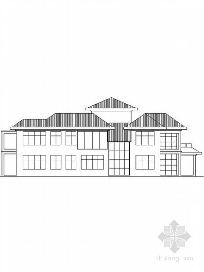 [新农村]3层现代风格家庭别墅设计施工图纸(含效果图)