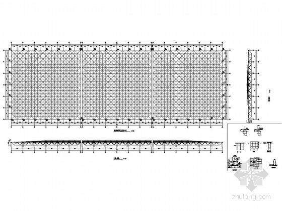四坡平板网架结构施工图