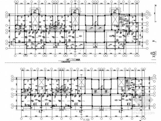 [辽宁]五层异形柱框架剪力墙结构住宅结构图