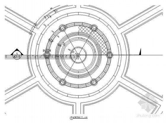 中央广场水景详图设计施工图