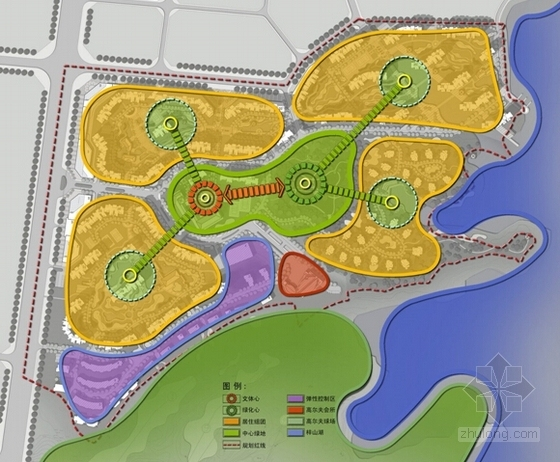 [湖南]国际高尔夫社区景观方案详细规划-结构分析