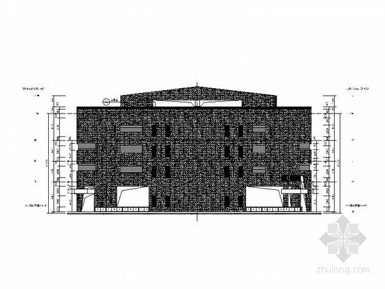 [福建]四层现代风格地铁站配套用房建筑施工图(2015年图纸知名设计院)-四层现代风格地铁站配套用房立面图