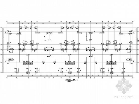 54.50米超长大体积混凝土商住楼结构施工图