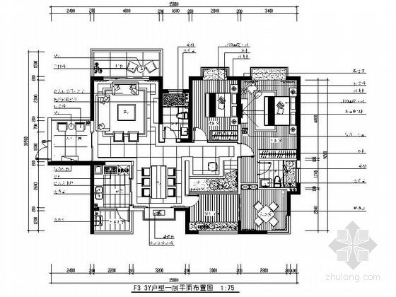 [广西]高层住宅简欧复式样板房装修图(含效果实景)