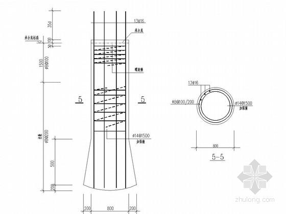 住宅楼工程人工挖孔桩基础施工图