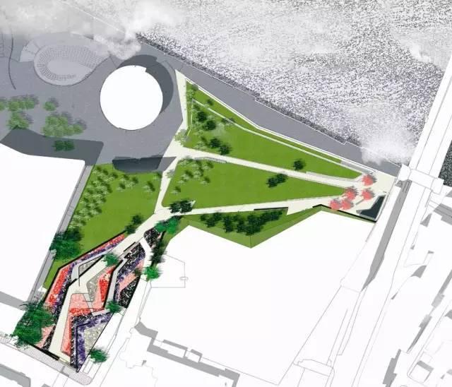 经典案例|伯德菲尔德公园+布雷斯河口林荫道设计整体框架