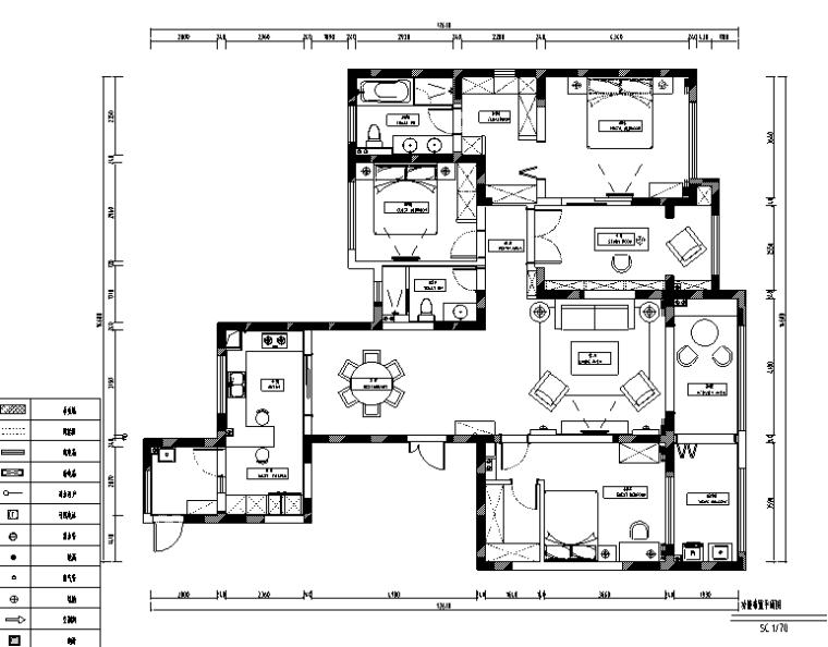 灰调成诗|龙湖香醍漫步简约美式住宅设计施工图(附效果图)