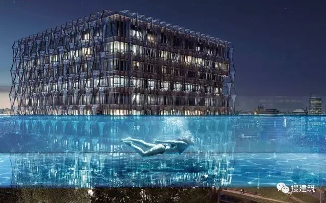 """27米长的""""空中泳池"""",在两栋大楼的第10层连接在一起,中间完全_6"""