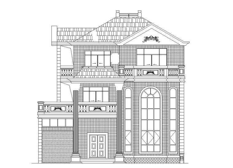 [广东]三层单家独院式别墅建筑施工图设计