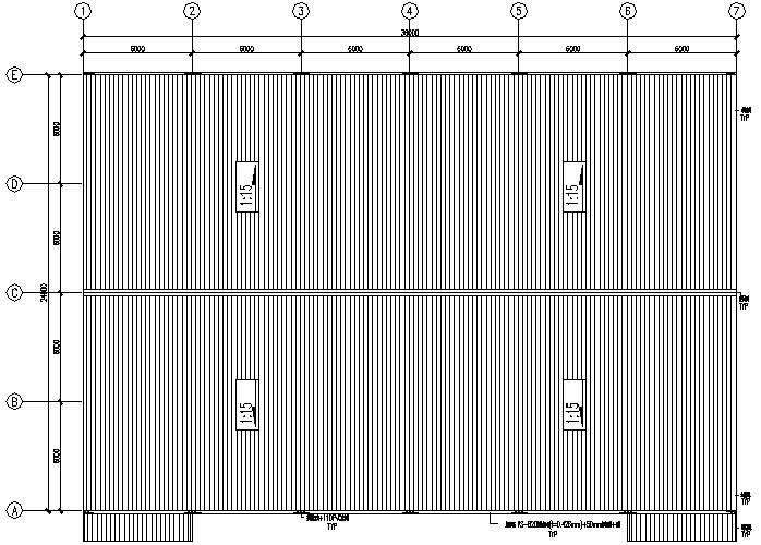 泉港门式刚架钢结构工程施工图(CAD,9张)