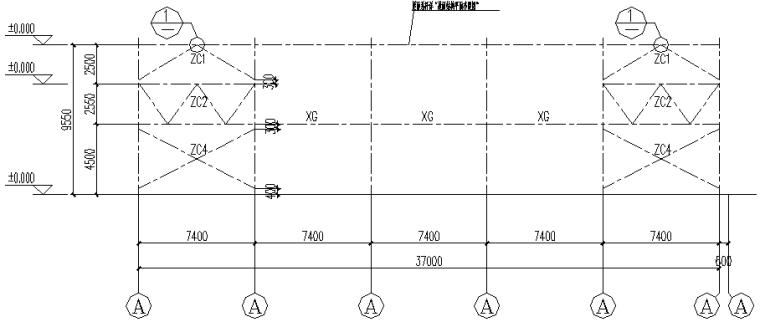 成都74X171mm门式刚架结构施工图(CAD,全套)_5