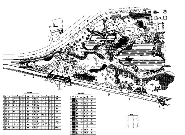 园林各类绿地景观设计CAD平面图346套(赠送CAD素材图库)-某公园景观绿化平面图