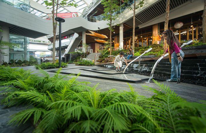 曼谷MegaBangna美食街内庭景观-14