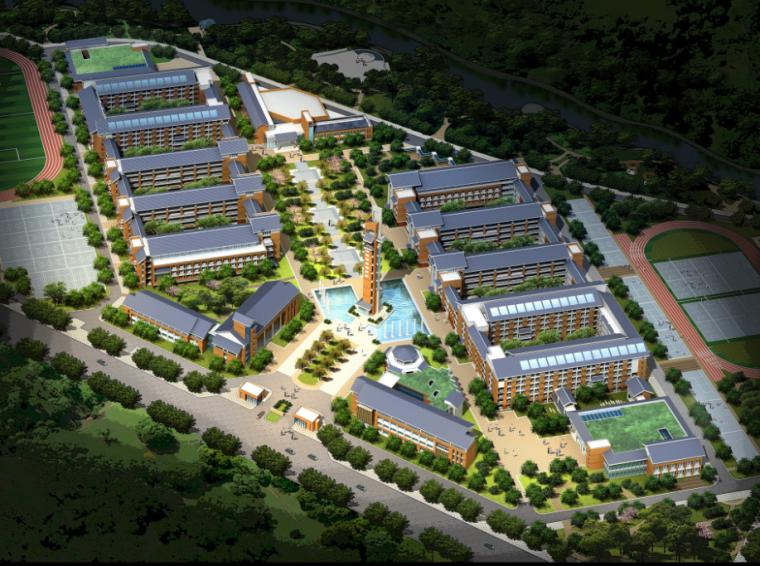 新中式風格學校建筑設計方案文本