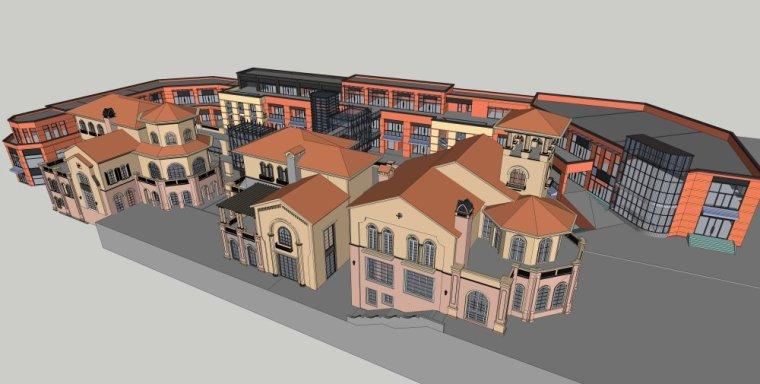 现代商业街两层资料下载-西方新古典风格+现代风2-3层西方古典商业街