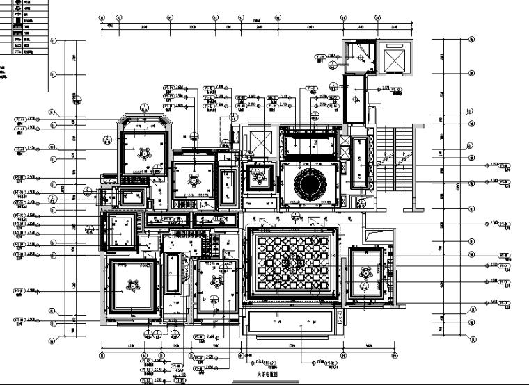 [广东]新中式新古典混搭风样板间设计施工图(附效果图)