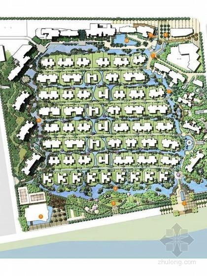 [佛山]现代东南亚风情居住区景观概念设计方案