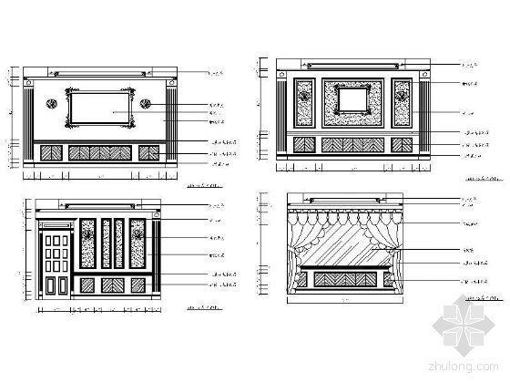 西式包房立面设计图Ⅰ
