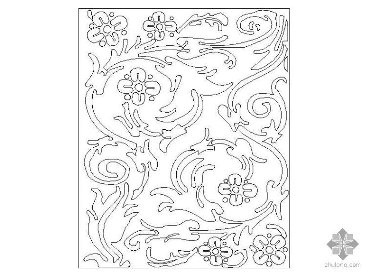26种密度板雕花图块