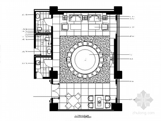 [福州]传统欧式餐厅豪华包房室内施工图(含效果图)
