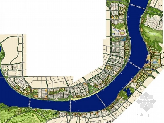 [湖南]滨江城市观光带公共空间景观设计方案