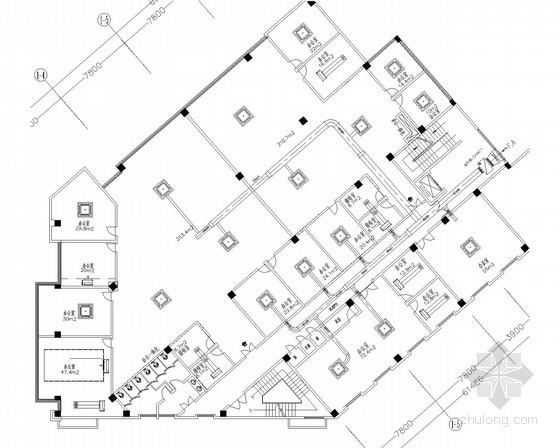 五层办公楼舒适性空调及通风排烟系统设计施工图